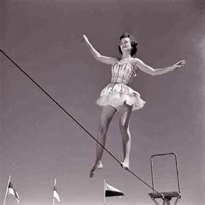 woman-tightrope-vintage